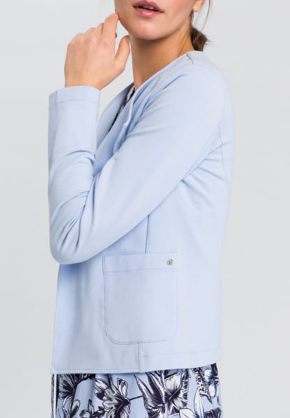 Jersey Jacket with openly falling collar