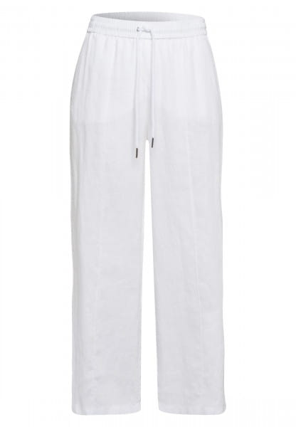 Linen trousers with jogger cuff
