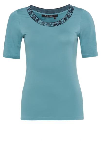 T-Shirt mit Jacquardblende