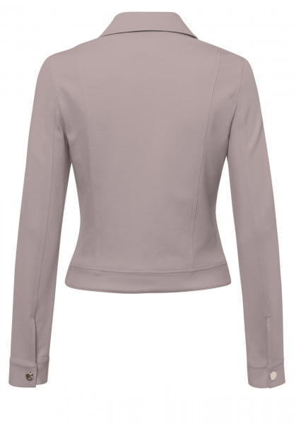 Short jacket made from structured jersey