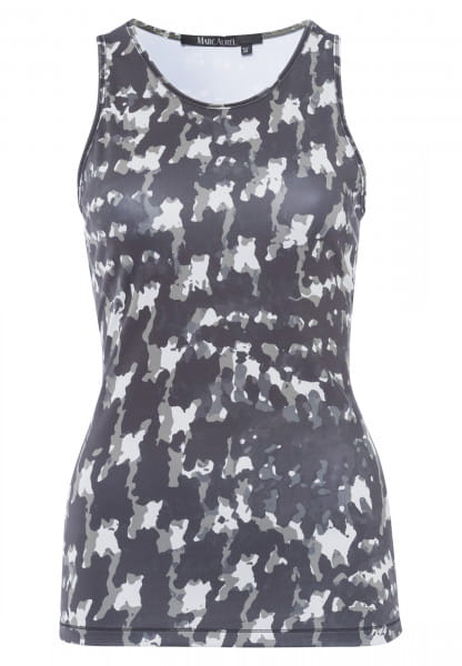 Sports top with abstract camouflage print