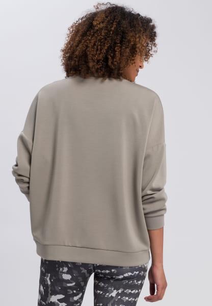 Sweatshirt mit Satinlogo