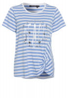 Shirt with Knot with stripe-print