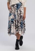 Skirt with abstract animal print