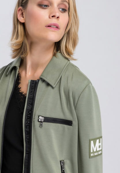 Jacke aus Scubajersey mit Logobadge