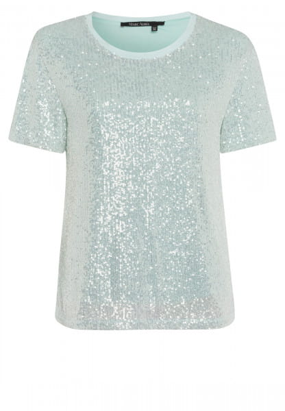 T-shirt from sequin jersey