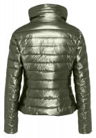 Outdoor jacket metallic-look