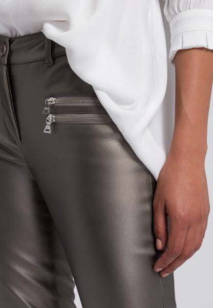 Biker pants made from vegan faux leather