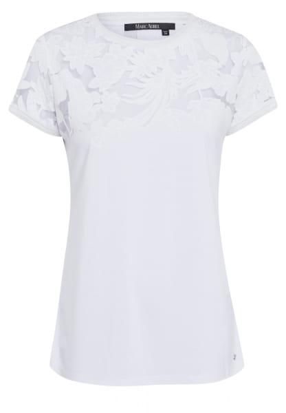 T-Shirt mit transparenter Spitze