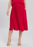 Midi Skirt with broad smocked waistband