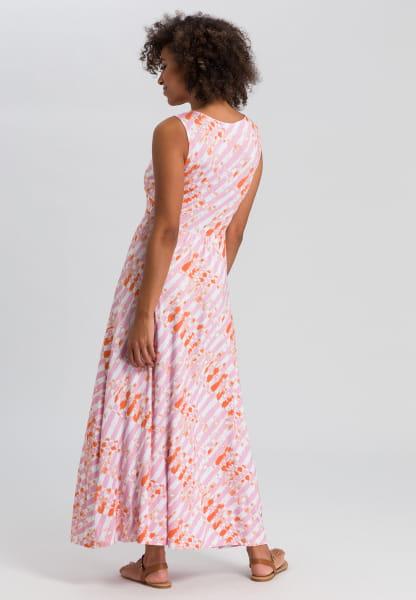 Jersey dress with batik print