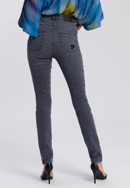 Push-up-Jeans mit Destroy-Details