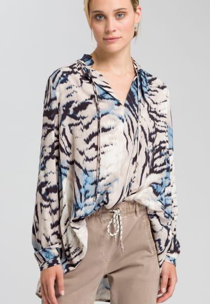 Bluse mit abstraktem Animalprint