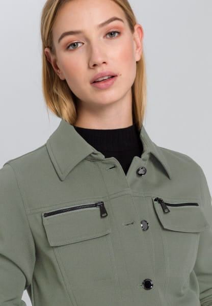 Jacket in twill jersey quality