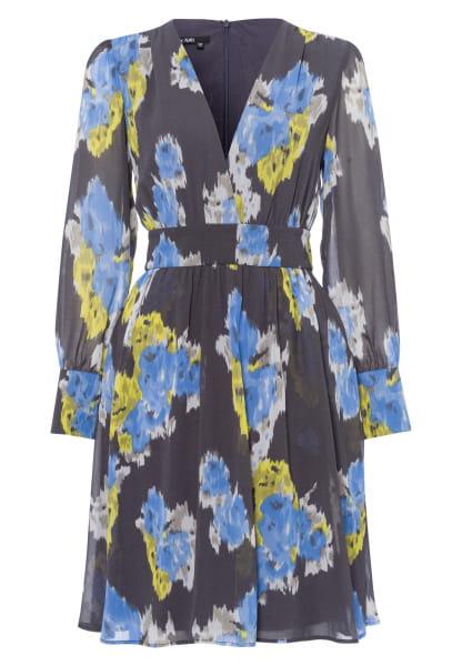Dress with ethno-flower print