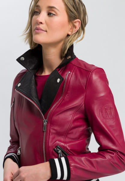 Biker Jacket with contrast details