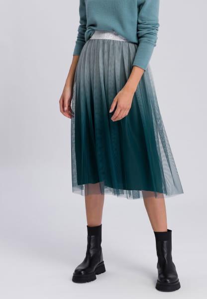 Midi skirt with organic gradient