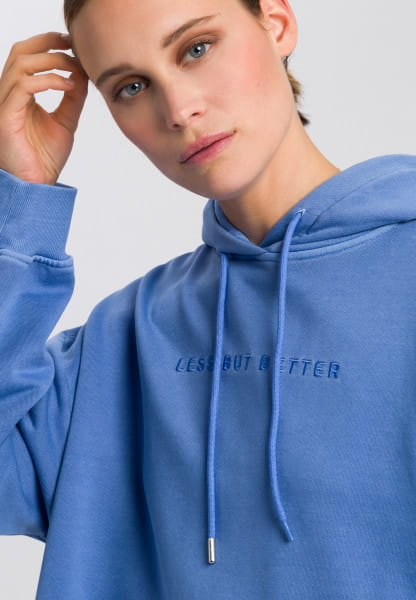 Hoodie with motto-embroidery