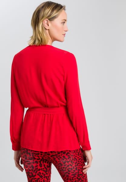 Bluse in Wickel-Optik